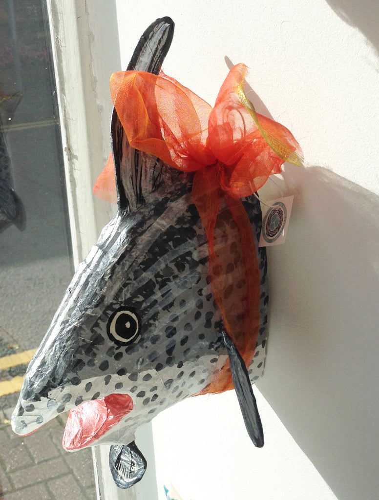 Papier Mache Mackeral Head W1JC13