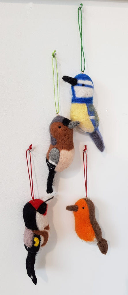 Needle Felt Hanging Bird By Felting For England