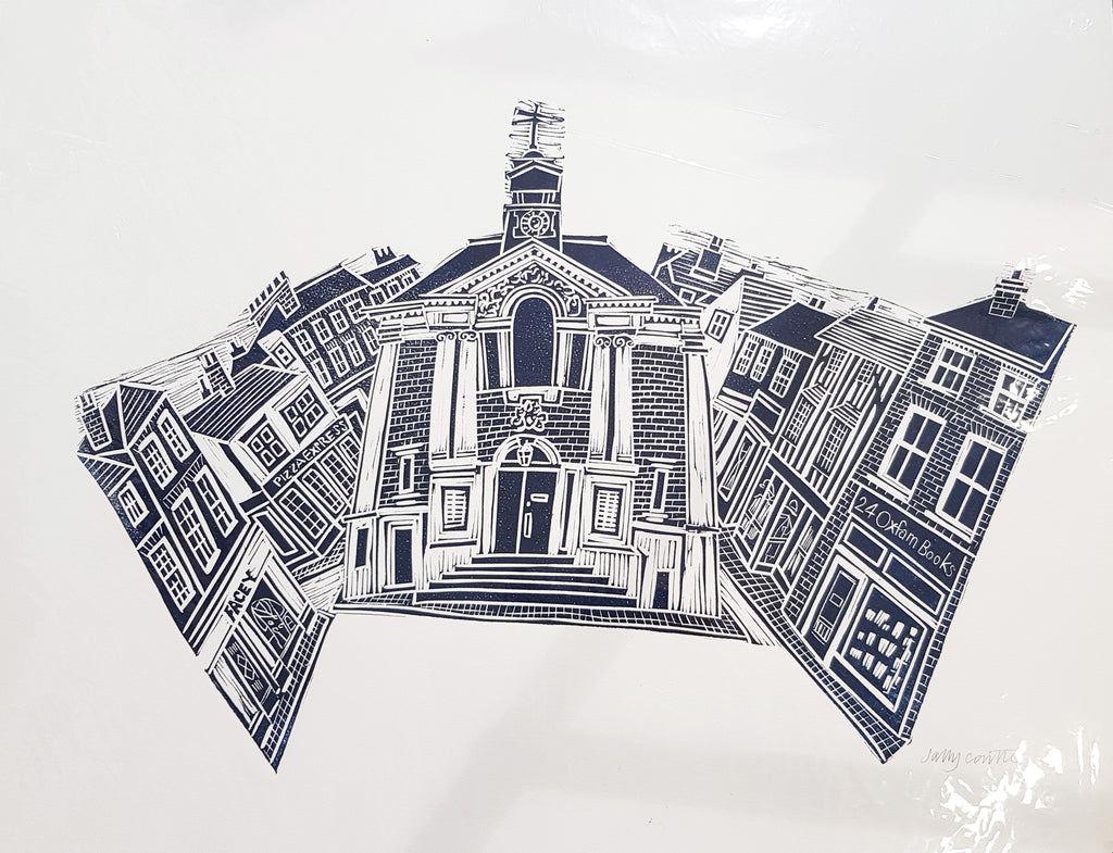 Limited Edition Lino Print By Sally Castle S36SC84