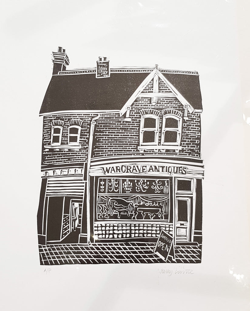 Limited Edition Lino Print By Sally Castle S36SC37