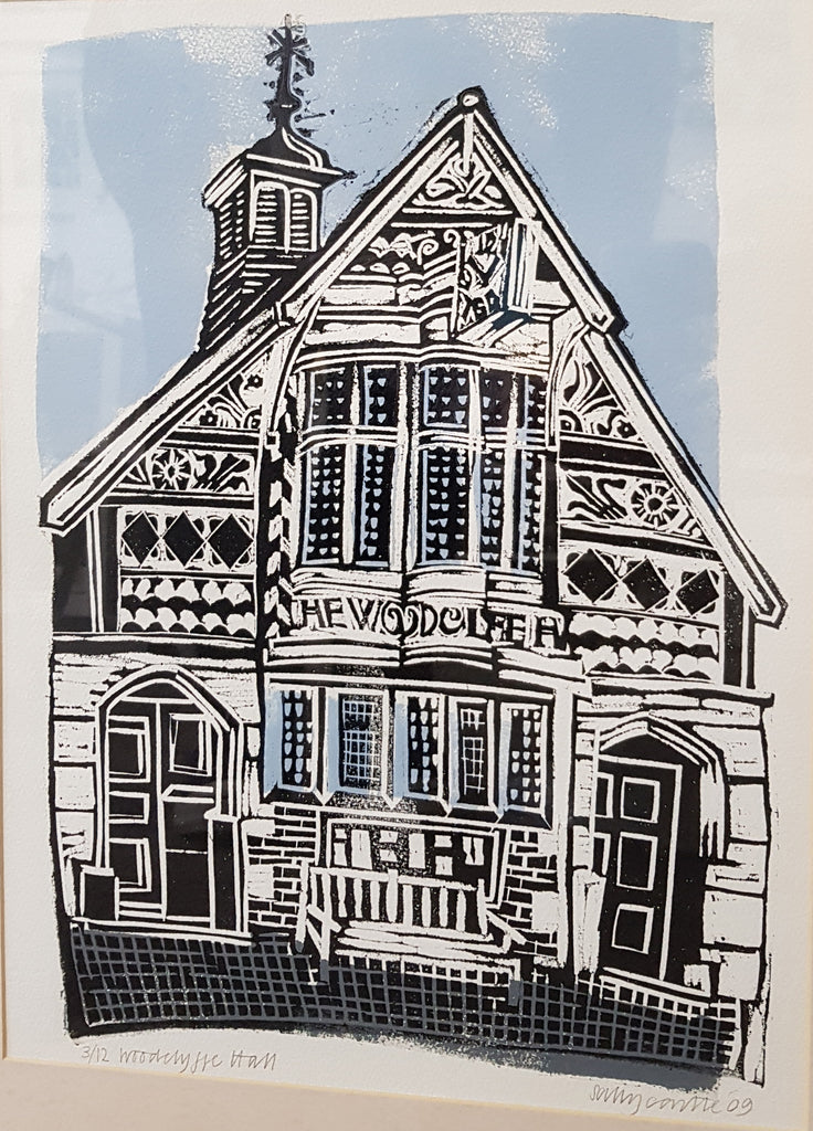 Framed Limited Edition Lino Print By Sally Castle S36SC45
