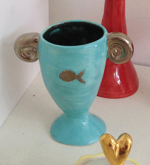 Handmade Ceramic Egg Cup by Sophie Smith S38SS145