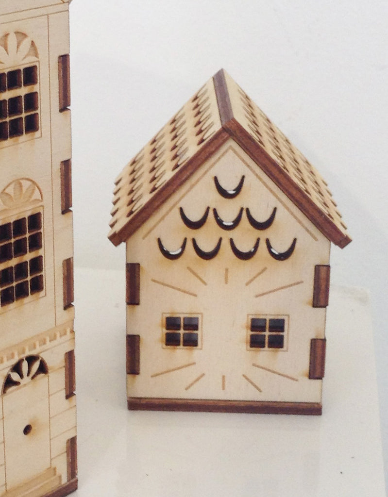Laser Cut Wooden Houses By Hazel Williams W49HW1