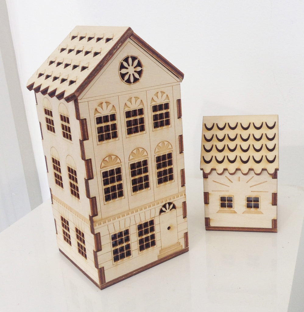 Laser Cut Wooden Houses By Hazel Williams