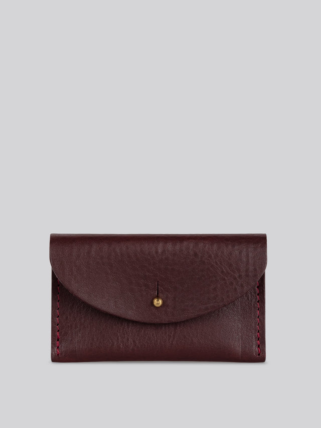 Coin purse - Merlot grainy