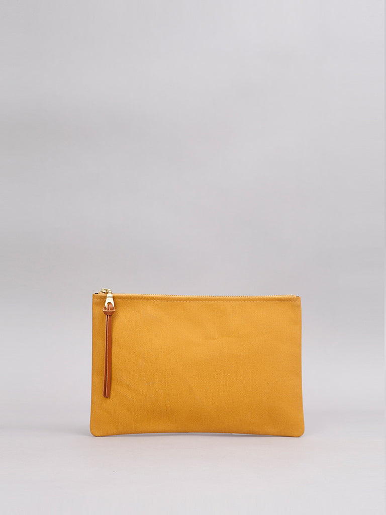 Large Canvas Pouch - Mustard
