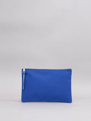 Large Canvas Pouch - Blue