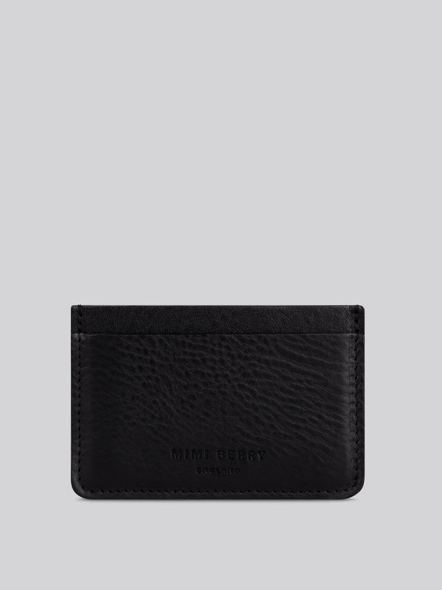 Card Holder - Black grainy