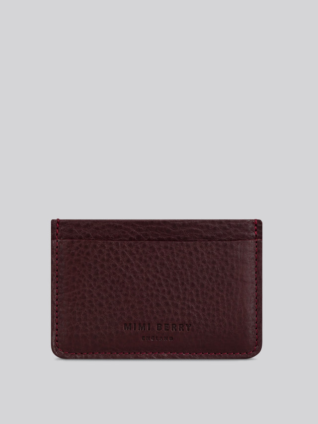 Card Holder - Merlot grainy