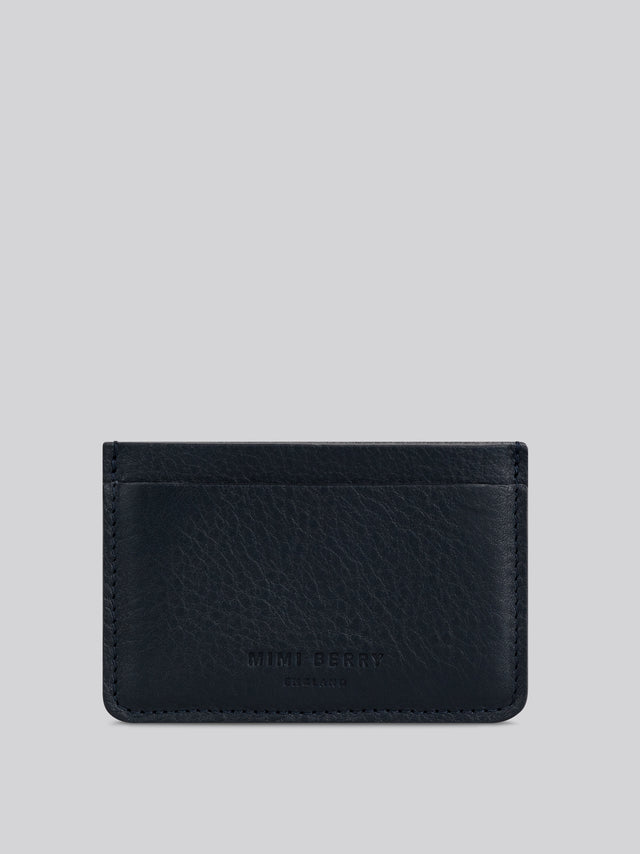 Card Holder - Navy grainy