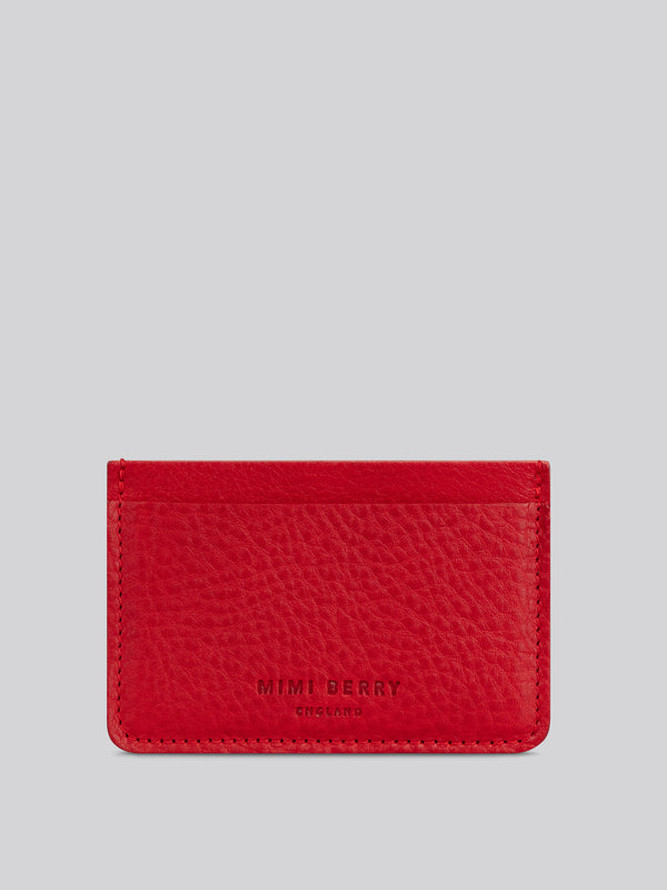 Card Holder - Ruby grainy}