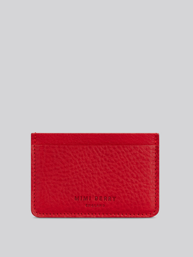 Card Holder - Ruby grainy