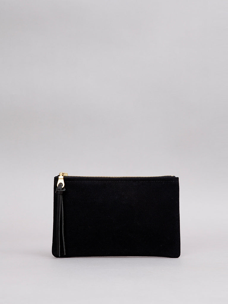Small Canvas Pouch - Black