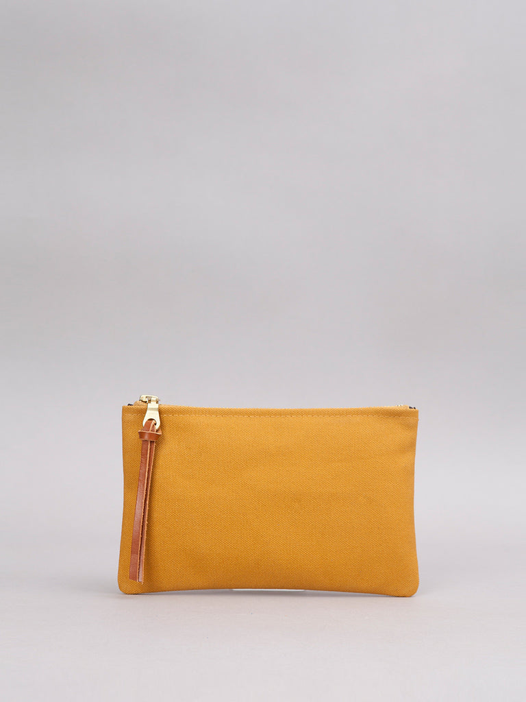 Small Canvas Pouch - Mustard