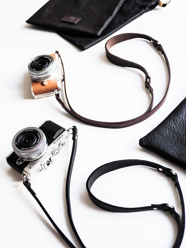 Gertrude Camera Strap - Chocolate}