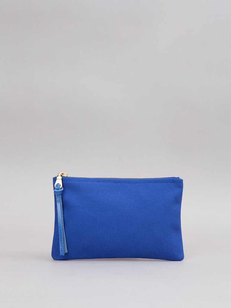 Small Canvas Pouch - Blue