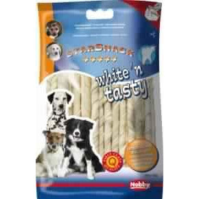 68007 NOBBY White´n Tasty twist 12,5 cm x 6-7 mm, 165 g, 30 pcs - PetsOffice