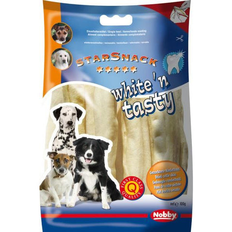 68008 NOBBY White´n Tasty Chewing Rolls 15 cm, 5 pcs - PetsOffice