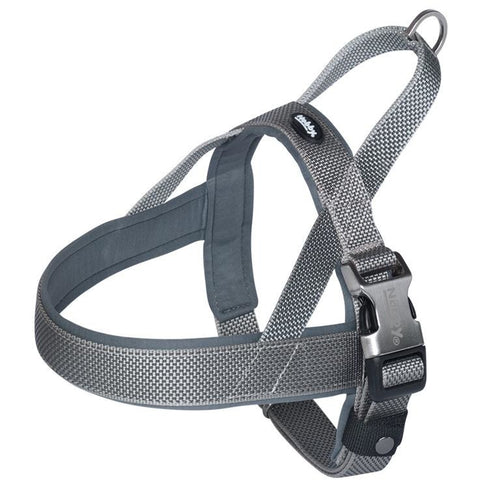 "80640-42 NOBBY Norwegian Harness ""Classic Preno Royal"" grey L: 50-64 cm + 42 cm; W: 25/35 mm - PetsOffice"