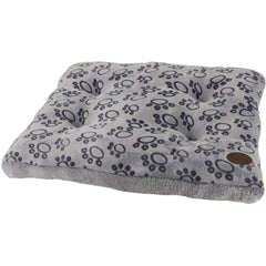 "60834 NOBBY Comfort cushion square ""STEP"" grey l x w x h: 75 x 55 x 6 cm"