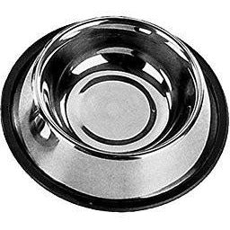 72811 NOBBY Stainless steel bowl, anti slip, flat - PetsOffice