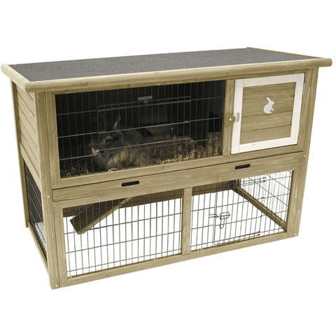 3948 Small Animal Hutch 124 x 65 x 88 cm - PetsOffice