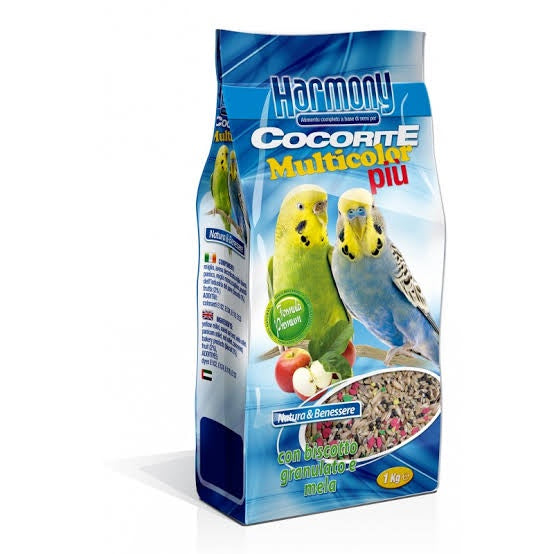 Budgies Rainbow with Apple Made In Italy 1Kg
