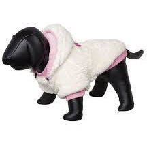 "66534 NOBBY Dog coat ""TEDDY"" creme-pink 32 cm - PetsOffice"