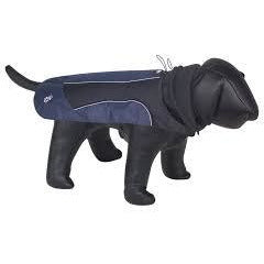 "67881 NOBBY Dog coat ""DAKU"" blue 80 cm - PetsOffice"