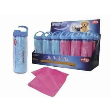 "79088 NOBBY Towel ""SPEED DRY COMFORT"" lightblue; pink 66 x 43 cm - PetsOffice"
