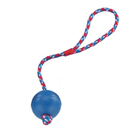 69006 NOBBY Rubber ball with rope - PetsOffice