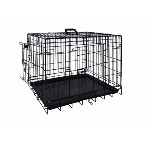62312 NOBBY Transport cage foldable black l x w x h: 78 x 55 x 62 cm - PetsOffice