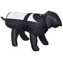 "66323 NOBBY Dog coat ""CAIBO"" white-black 80 cm - PetsOffice"