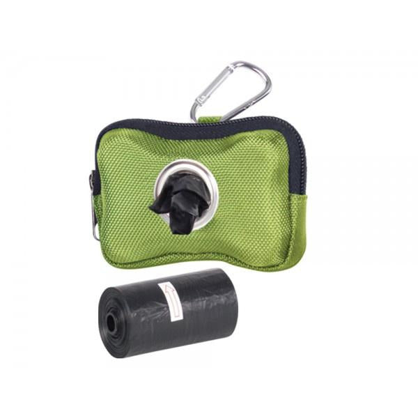 "67367 NOBBY TidyUp Poop bag dispenser ""HARDY"" green, 10 x 3 x 7 cm incl. 2 rolls with 15 bags - PetsOffice"