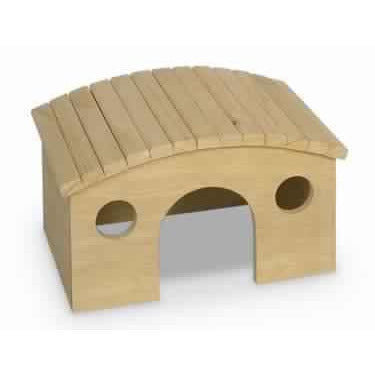 "25488 WOODLAND Rodent wooden house ""RUNDA"" 29,1 x 22,5 x 16,7 cm"