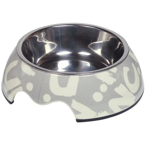 "73686 NOBBY Dog Melamine bowl ""Letter"" S: 14 x 4,5 cm, 160 ml - PetsOffice"