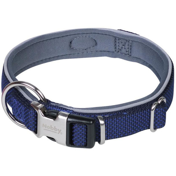 "80632-07 NOBBY Collar ""Classic Preno Royal"" navy L: 54-65 cm; W: 25/35 mm - PetsOffice"