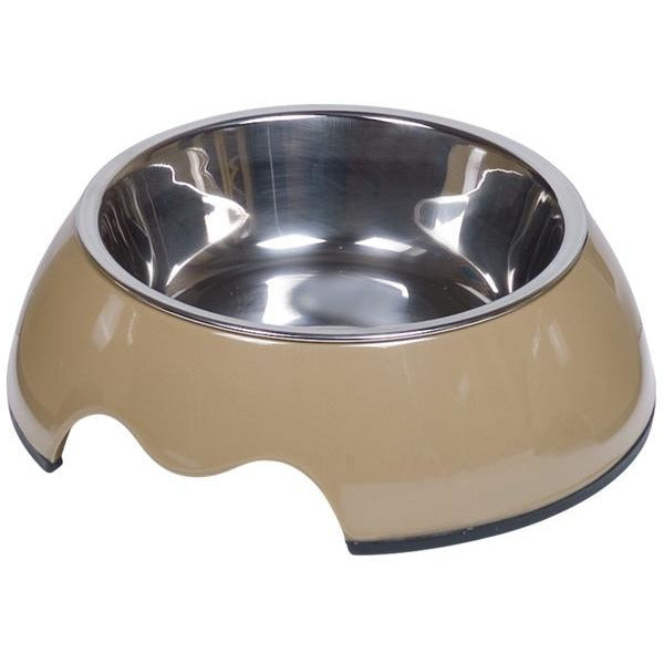 "73481-09 NOBBY Dog Melamine bowl ""NOBLY"" taupe S: 14 x 4,5 cm, 160 ml - PetsOffice"
