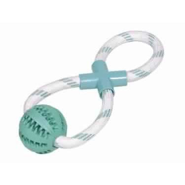 "60474 Rubber Ball with rope ""DENTAL LINE"" 30 cm - PetsOffice"