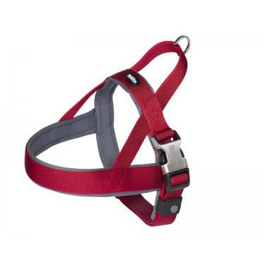 "80642-01 NOBBY Norwegian Harness ""Classic Preno Royal"" red L: 68-85 cm + 54 cm; W: 40/45 mm - PetsOffice"