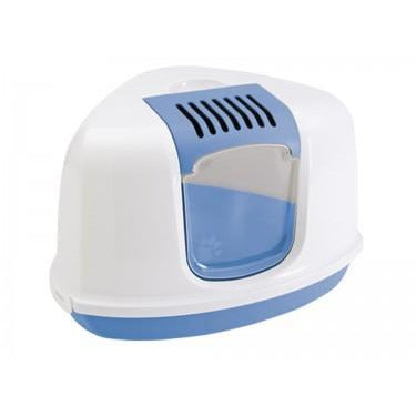 "72177 NOBBY Cat Toilet (Litter Box) Blue-White ""NESTOR CORNER"" - PetsOffice"