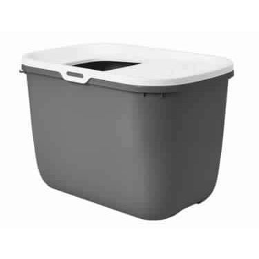 "72189 NOBBY Cat toilet (Litter Box) Antracite-White ""Hop In"" - PetsOffice"
