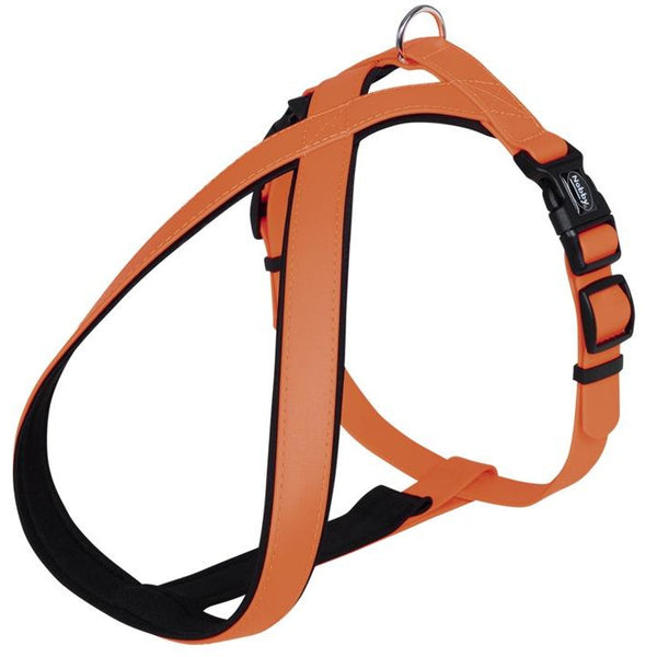 "80569-04 NOBBY Comfort Harness ""Cover"" neon orange waist: 40-60 cm; w: 25/35 mm - PetsOffice"