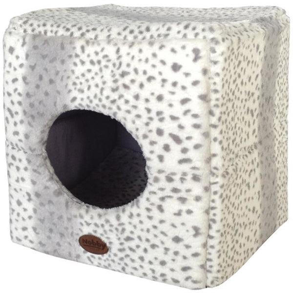 "60655 NOBBY Cave cube ""ALANIS"" leopard grey 45 x 45 x 45 cm"