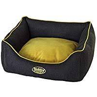 "60535 NOBBY Comfort bed square ""PIOLA"" grey/yellow l x w x h: 75 x 60 x 23 cm - PetsOffice"