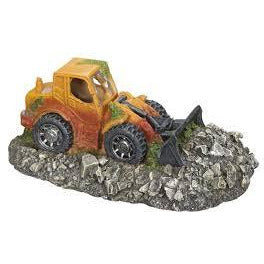 "28540 NOBBY Aqua Ornaments ""WHEEL LOADER"" 19,5 x 11,5 x 7,5 cm - PetsOffice"