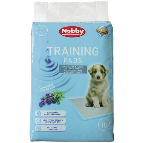 57160 NOBBY Doggy Trainer Pads with Lavender Scent 10 pcs L - 60 x 60 cm - PetsOffice
