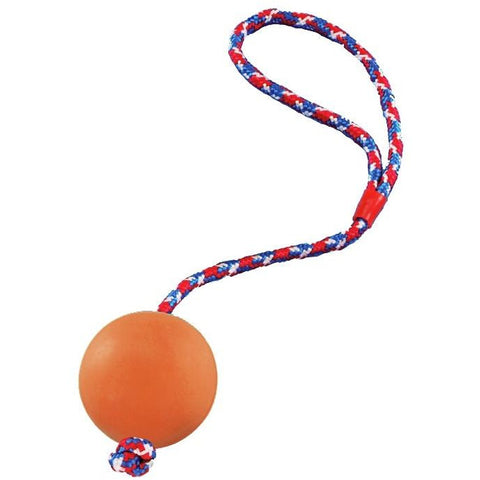 69005 Rubber ball with rope - PetsOffice