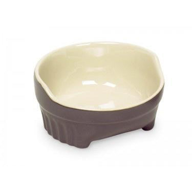 "73435 NOBBY Dog ceramic bowl ""STYLE"" grey / beige Ø11,5 X 4,5 cm - PetsOffice"