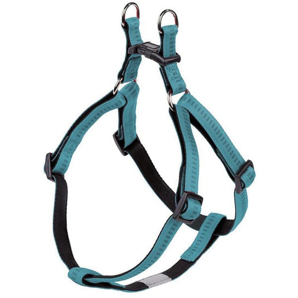 "78506-34 NOBBY Harness ""Soft Grip"" turquoise chest: 30-40 cm; w: 10 mm - PetsOffice"